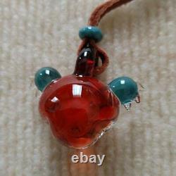 Grateful Dead Dead Bear Tonbotama Glass Pendant Necklace Rare Item