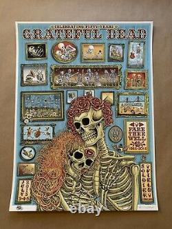 Grateful Dead / Fare Thee Well Emek Poster / Artist Proof / Rare / 2015 Chicago