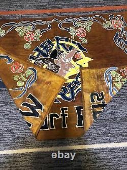 Grateful Dead Flag Music Banner Wharf Rats 36inch x 28inch Original Cloth RARE