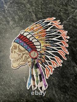 Grateful Dead Patch Rare 5 Jerry Garcia Wes Lang Vtg Indian Headdress Variant