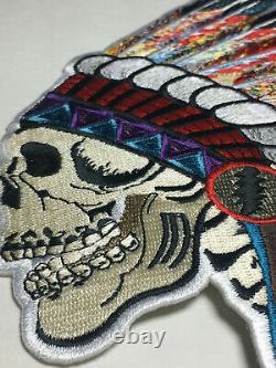Grateful Dead Patch Spring'90 Wes Lang Skull Headdress RARE HTF