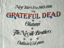 Grateful Dead RARE 1985 New Years Eve Oakland Shirt VTG Jerry Garcia Bill Graham