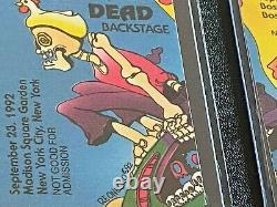 Grateful Dead Rare PUZZLE Backstage Pass SET 8 Passes Hippie Bus