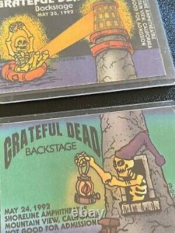 Grateful Dead Rare PUZZLE Backstage Pass SET Lighthouse Shoreline 1992 3 Nights