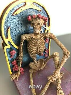 Grateful Dead Skeleton Bookends, Vandor, 1998. Very Rare