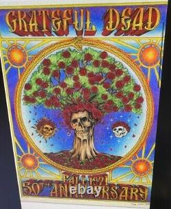 Grateful Dead Skull & Roses Poster 50th Only 400 made Brand New rare