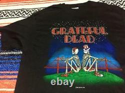 Grateful Dead T Shirt Band Men Black Skull Used Large L Hanes Made In USA Rare