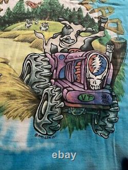 Grateful Dead T Shirt Vintage 1995 Summer Tour 6/15/95 Highgate, VT XL NOS RARE