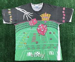 Grateful Dead ULTRA RARE 1992 Vegas Tour Shirt Liquid Blue All-Over Print GDM XL