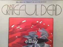 Grateful Dead Ultra Rare 1969 Orig. 1st Printing 22 X 14 Concert Window Card