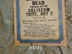 Grateful Dead Very Rare Cardboard Boxing Style Concert Poster