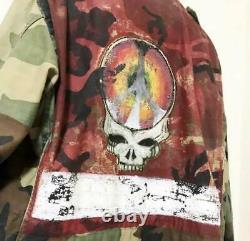 Grateful Dead Vintage Military Jacket Shirt M-65 L size rare