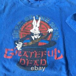 Grateful Dead Vintage T Shirt 1987 Year Of The HareXL Blue & Rare