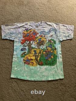 Grateful Dead Vintage T-Shirt 1993 Rise & Fall Tour Shirt Tie Dye XL NOS Rare
