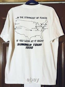 Grateful Dead Vintage T Shirt Summer Tour 1990 Scarlet Begonias Double Side Rare