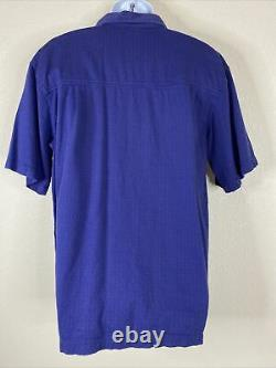 Grateful Dead by David Carey Men Size L Purple Skeleton Rose Hair Shirt RARE
