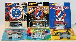 Hot Wheels Grateful Dead Pop Culture Series Cars 2013 Complete Set Of 6 Rare New
