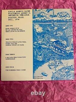 Jerry Garcia Band Orpheum Theater Dec. 2, 1977 Rare 2lp 100 Songs Grateful Dead