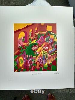 Jerry Garcia LTD. Ed Print Lizard Board Grateful Dead COA DB Artworks RARE