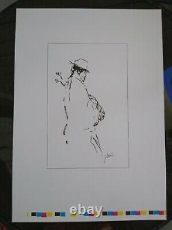 Jerry Garcia RARE PRESS Proof Bluegrass Musician Grateful Dead COA DB Artwork