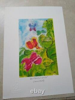 Jerry Garcia RARE PRESS Proof Butterfly Study Grateful Dead COA DB Artworks