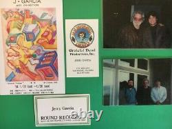 Jerry Garcia RARE PRESS Proof Danse Grateful Dead COA DB Artworks
