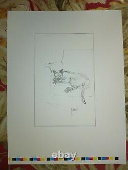 Jerry Garcia RARE PRESS Proof Figaro Grateful Dead COA DB Artworks