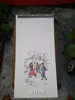 Jerry Garcia RARE PRESS Proof Flamenco Dancer Grateful Dead COA DB Artworks