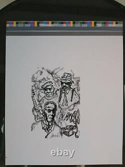 Jerry Garcia RARE PRESS Proof Race Record Dream Grateful Dead COA DB Artworks