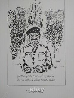 Jerry Garcia RARE PRESS Proof Sadaam Grateful Dead COA DB Artworks