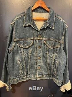 Levis Vintage Hand-Painted Signed Grateful Dead Trucker Jacket 48R Rare Find