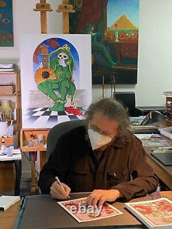 Lilac Bertha Blotter Art Rare Stanley Mouse Signed Grateful Dead Ltd 100