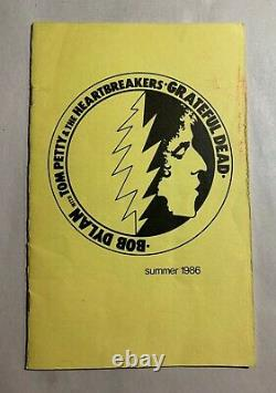 MEGA-RARE Grateful Dead Bob Dylan Tom Petty Summer 1986 Tour Itinerary Crew Only