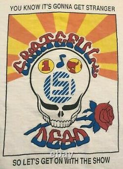 Men's Rare Vintage 90's Grateful Dead Band Tour Concer T-shirt Size XL Skulls