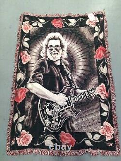 New JERRY GARCIA Throw Blanket RARE Grateful Dead 46x67