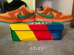 Nike SB Dunk Low Pro QS Grateful Dead Orange UK7.5 US8.5 BNIB Very Rare