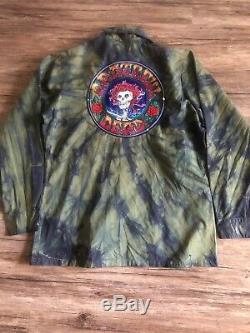 R13 Grateful Dead Tie Dye Green Surplus Shirt Distressed Look Womens Rare