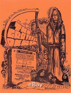 RARE Grateful Dead Grim Reaper 1967 Marigold Ballroom Fresno Handbill