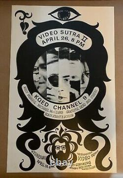 RARE POSTER Grateful Dead Andy Warhol Allen Ginsberg 1967 Video Sutra bg fd aor
