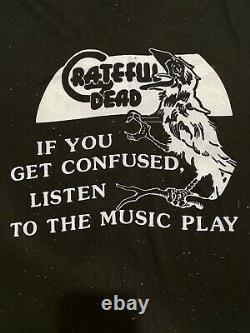 RARE VTG Grateful Dead 70s 80s Bootleg Concert Tour Shirt! Jerry Garcia! Large