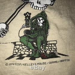 RARE Vintage 1979 Grateful Dead Mouse Bootleg Lot Tee Shirt