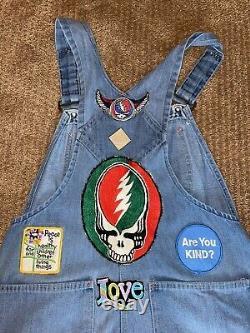 RARE Vintage 70s Grateful Dead Overalls Funk And Flash Patches T Shirt Big Mac