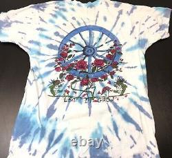RARE Vintage 90s Grateful Dead T Shirt Tie Dye All Over Print Enjoying The Ride