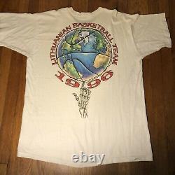 RARE Vintage Grateful Dead Liquid Blue Tie Dye Shirt 1996 LITHUANIA XXL Olympics