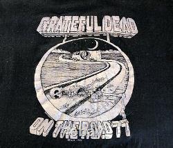 RARE Vintage Grateful Dead Tee ON THE ROAD 1977 Concert T-Shirt Single Stitch