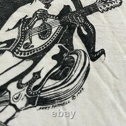 Rare 90s Vintage Distressed Grateful Dead Rock Double Sided Band Tee Shirt Sz L