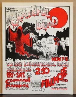 Rare And Original Grateful Dead Old Fillmore Family Dog Era Poster / Handbill