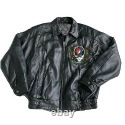 Rare Grateful Dead Full leather Jacket size small med large XL 2XL 3XL