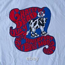 Rare Grateful Dead St Louis Cow Arch T-Shirt Vintage 1994 Crew Summer Tour L New
