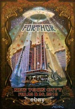 Rare Mike Dubois 2010 Furthur Poster Radio City New York Weir Lesh Grateful Dead
